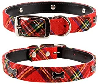 Pet Palace Plaid Tartan Scottie Luxury Dog Collar for Pets Proud of Their Heritage