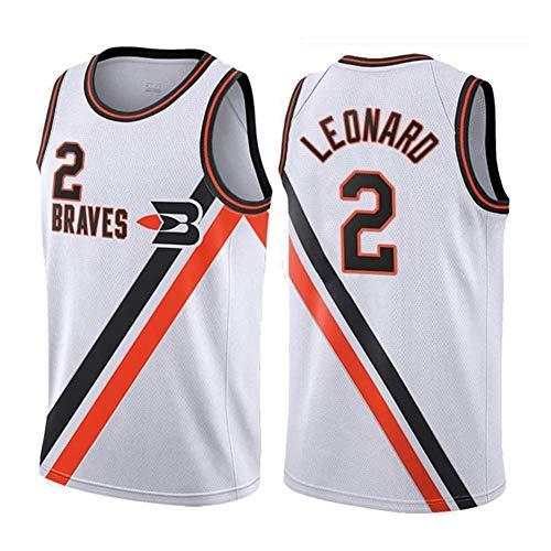 Jersey de Baloncesto-Los Angeles Clippers 2# Kawhi Leonard Vintage Bordado Jersey Swingman Edition Mesh Jersey, 90S Hip Hop Clothing (S-XXL)-WhiteC-XL
