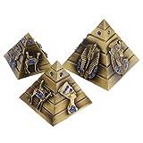 Homyl 3X Modelo de Pirámides de Egipto de Metal Color Bronce/Cobre - Bronce