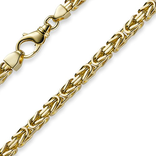5mm Kette Halskette Königskette aus 585 Gold Gelbgold 70cm Herren Goldkette