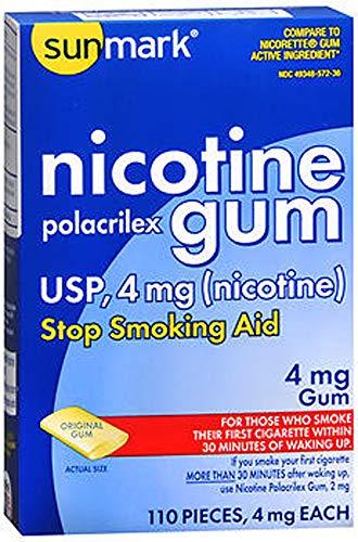 Sunmark Sunmark Nicotine Polacrilex Gum Original, Original Flavor 110 each 4 mg