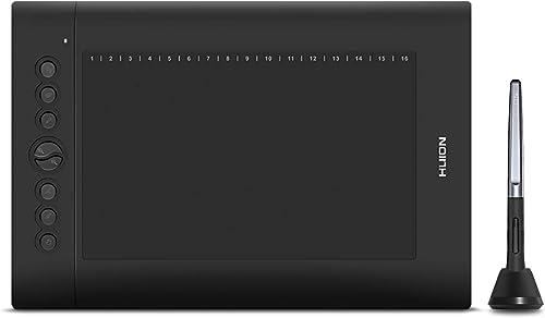 Tablet de desenho gráfico Huion H610 Pro V2 compatível com Android, função inclinação, caneta Stylus 8192 sem bateria...