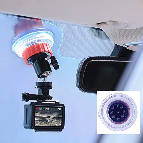 ULANZI Supporto a Ventosa per portabiciclette Gopro per Parabrezza per Veicoli con Testa a Sfera con Rotazione a 360 Gradi per GoPro Hero 5 6 7 Accessori per Action Cam DJI OSMO