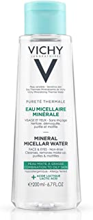 Vichy Pureté Thermale Mineral Micellar Cleansing Water, Makeup Remover & Facial Cleanser with Salicylic Acid for Combination to Oily Skin , 6.76 Fl. Oz