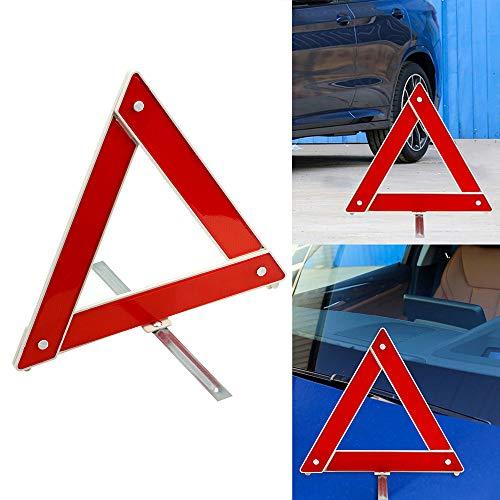 iTimo Auto-Dreieck-Warnzeichen, reflektierendes Stoppschild-Brett, für Sicherheitsparken, Rot