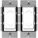 z wave energy switch - ENERWAVE Z-Wave Plus Dimmer, Smart Dimmer Switch for Z-Wave Home Automation, Z-Wave Dimmer Switch with Smart Meter Energy Monitor, Neutral Wire Required, Compatible with Alexa, ZW500DM-PLUS, 2-Pack