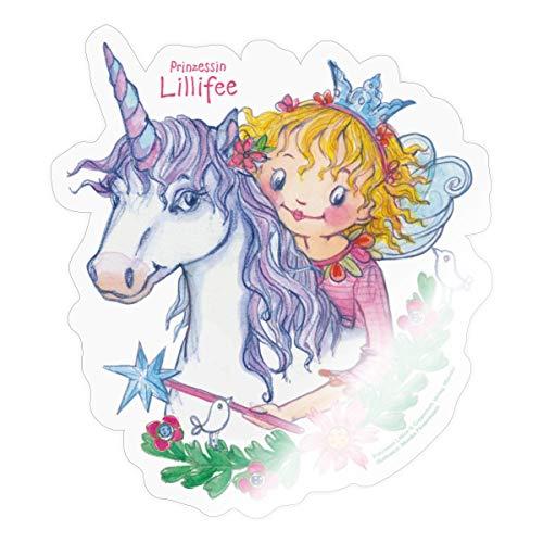 Prinzessin Lillifee Auf Einhorn Rosalie Sticker, One Size, Transparent glänzend