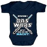 ShirtStreet Strampler mit Motiv Bio Baumwoll Baby Body kurzarm Junge - Das Wars jetzt hab ich die Macht!, Größe: 3-6 Monate,Nautical Navy