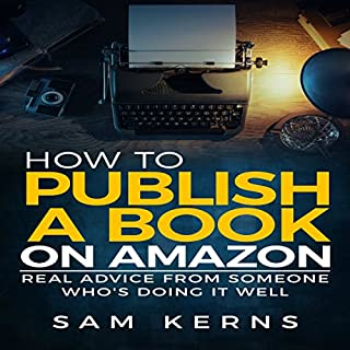 How to Publish a Book on Amazon audiobook cover art
