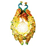 liushop Lámpara de Pared 1 par de lámpara de Pared de Pavo Real Colorido Resina Europea Sala de Estar Dormitorio decoración Creativa esférica Cristal lámpara lámpara de Pared Iluminación de Pared