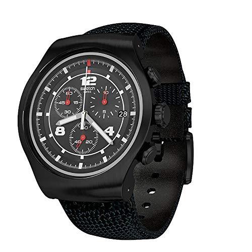 Swatch Reloj Analógico para Hombre de Cuarzo con Correa en Tela YOB404