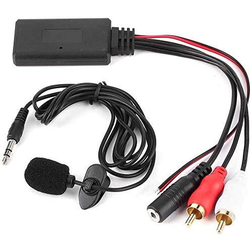 Yuyanshop Adaptador de cable RCA con 2 auriculares Bluetooth AUX con micrófono manos libres para Alpine para Pioneer Sony