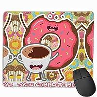 【2021新款】マウスパッドyou Complete Me Funny Food Doughnut Pink マウスパッドゲーミングマウスパッド大型ゲーミング滑り止めハイエンド流行のファッション防水耐久性滑り止めラバーボトム 25*30cm