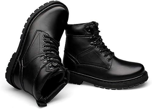 FMWLST botas botas Cálidas De Invierno De Moto para Hombre Botines