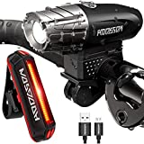 Bicycle Light, Led Waterproof Bike Light USB Rechargeable Adjustable Brightness Front Light,Mountain Road