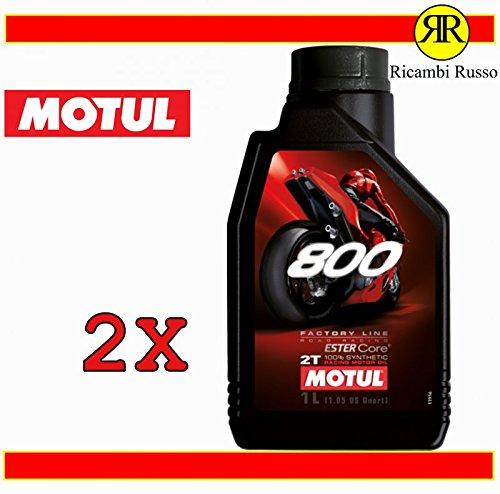 Motul 800 2T Factory Line Road Racing - Aceite de motor para moto de 2 tiempos, 2 litros