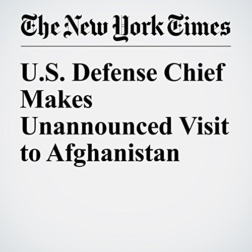 U.S. Defense Chief Makes Unannounced Visit to Afghanistan cover art