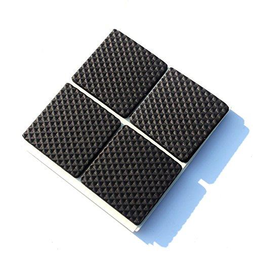 Premium-Möbel-Pads, Heavy Duty Self Stick-Möbel Filz-Pads Für Hartholz-Fußböden & Geräusch-Dämpfung Clear Gummi Stoßfänger Platz 3.8CMX3.8CM 16PCS