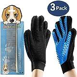 Pet Bürste Handschuh,Haustier Grooming Bürsten Deshedding Glove Cat Haar-Remover-Bürsten...