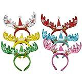 (Paquet de 6) Femmes Filles Enfants De Noël Cerfs Antlers Costume Oreille Cheveux Tête Band Prop