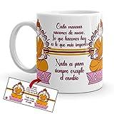 Kembilove Tazas de café diseño de Yoga – Taza de café inspiradora en Buda Naranja y Mándala – Taza de Cerámica Duradera con Diseño Espiritual – Tazas Coloridas para Té y Café – Tazas de 350 ml