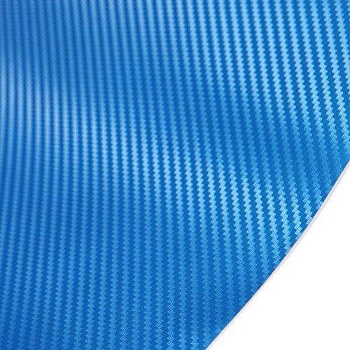 ブルー 青色 約30cm×約5メートル/5m カーボンシート 3D立体構造 ブラック カーボンシール カッティング用シート カーボンシール カーボンフィルム 気泡が入りにくバブルフリー加工 ドライヤーで施工がもっと楽に