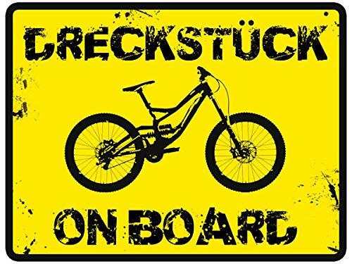 Loss Textildruck & Werbetechnik MTB Sticker Dreckstück on Board Mountain Bike & Downhill Aufkleber 1 Aufkleber