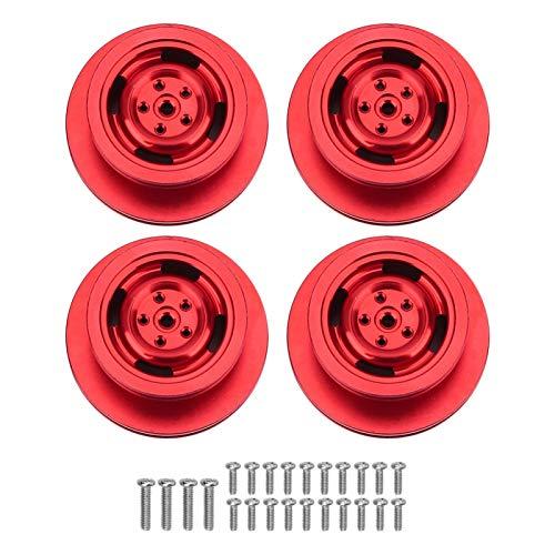 Gaeirt Llantas de Rueda RC Llantas de Rueda Aleación de Aluminio con excelente Rendimiento(Red)