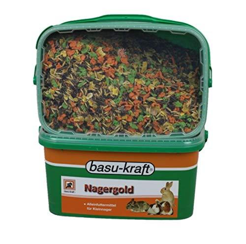 BASU Nagergold 3 kg - Alleinfutter für Kleinnager - Meerschweinchen - Zwergkaninchen