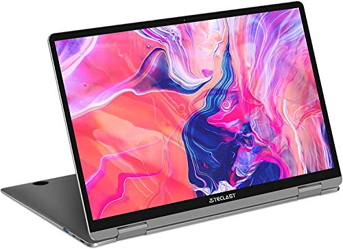 TECLAST F6 Plus Laptop 13.3 Zoll Ultrabook 360° klappbar Touchscreen, 1920x1080 IPS Full HD, Intel Celeron N4100, 8GB DDR4 + 256GB SSD, Type-C USB 3.0, Windows 10, Silber