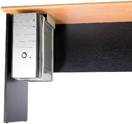 General Office Computerhalterung: Universal-Schienen-Halterung zur PC-Untertisch-Montage (PC Halterung unter Tisch)