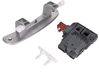 134550800 Door Hinge with Bushings & 131763202 Washer Lid Latch Assembly/Washer Door Lock Switch & 1317633 Door Striker for Frigidaire, Crosley and Electrolux