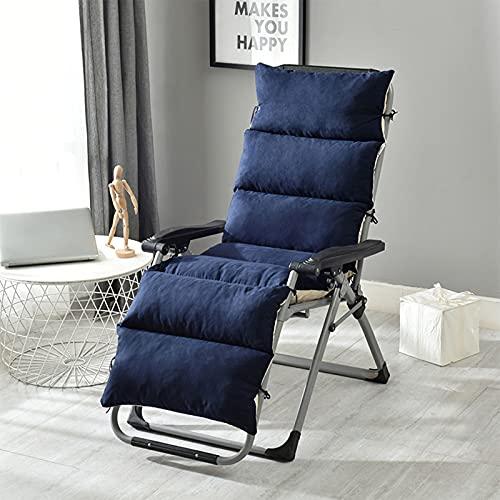 AKEFG Cojín para sillón de Patio, Almohadilla de Repuesto para Interior/Exterior con Lazos Cojines Antideslizantes para Silla con Respaldo Alto (Silla no incluida)