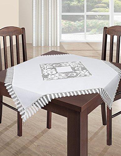 DecoKing wit tafelkleed tafelkleed kant modern Folk onderhoudsvriendelijk praktisch elegant materiaal natuur 2