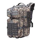 YOYOLIFE Mochila táctica 50L, mochila militar 50L, mochila Molle, mochila del ejército, bolsa de escalada de caza, delete, L