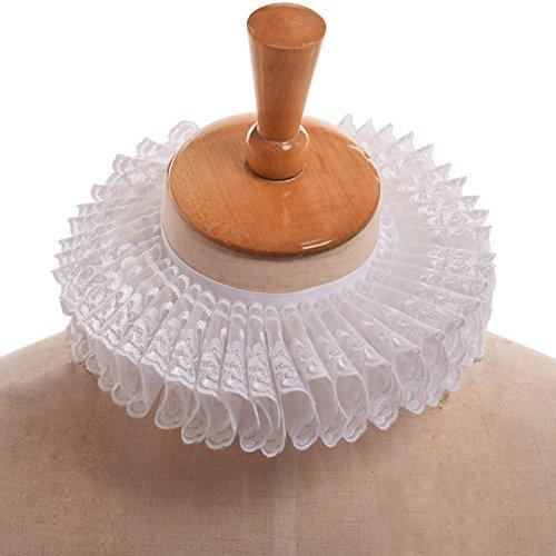 BLESSUME ハロウィン ルネサンス 貴族 ヨーロッパ 中世 古代 衣装 コスチューム コスプレ レース 襟 (白)