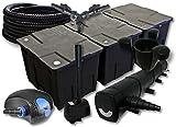 SunSun Set Filtro per stagni Fino a 90.000l 72W Depuratore 100W Pompa 25m Tubo Skimmer Fon...