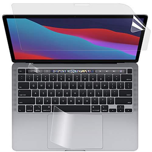【3点セット】 MacBook Pro 13インチ 2020用 ブルーライトカットフィルム 液晶保護フィルム 超反射防止 映り込み防止 指紋防止 気泡レス 抗菌 ブルーライトカット アンチグレア