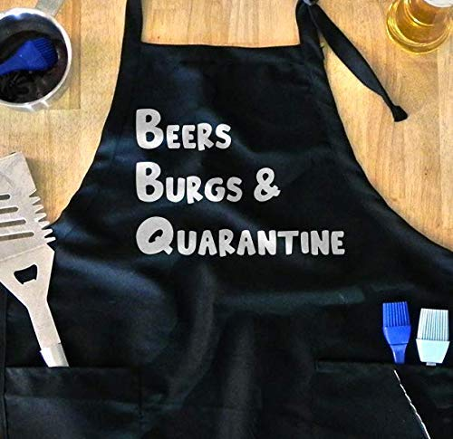 Funny Grilling Apron - Quarantine 2020, Fathers Day Gift, Backyard BBQ, Chef, COVID-19, Coronavirus, Cooking and Barbecuing