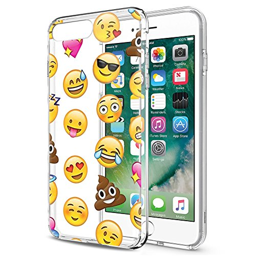 Eouine Funda iPhone SE, Funda iPhone 5s / 5, Cárcasa Silicona 3D Transparente con Dibujos [Antigolpes] Bumper Case Cover Fundas para Movil Apple iPhone SE / 5s / 5 2018-4 Pulgada (Emoji)