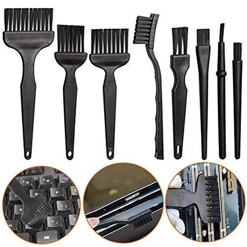 8 Piezas kit de Cepillo Antiestatico, Plástico Kit de Cepillo Limpieza, Cepillo Limpieza Antiestático Nylon, para Teclado Ordenador