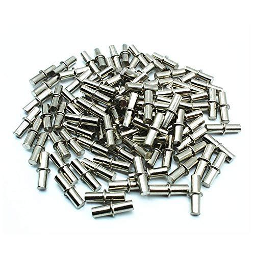 DELSEN 100 Stück 5x20mm Metall Bodenträger für einlegeböden Unterstützung