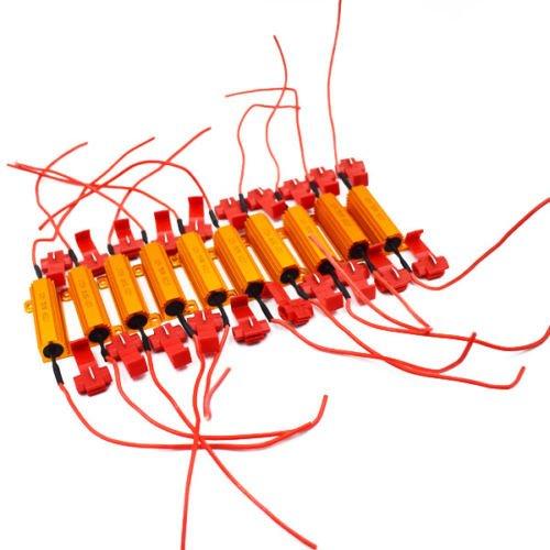 10 pcs 12 V 50 W résistances de charge Fix ampoule LED Fast Hyper Flash Signal Blinker Récemment