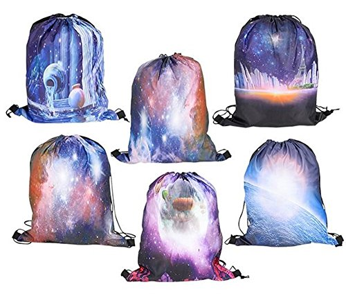 Happy Deals~ 12 Pack - 17' Galaxy Backpacks- Tote Bags - Space Theme Party Supplies