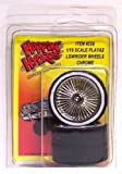 Hoppin Hydros 1/18 Scale Playaz Rims and Whitewall Tires Chrome