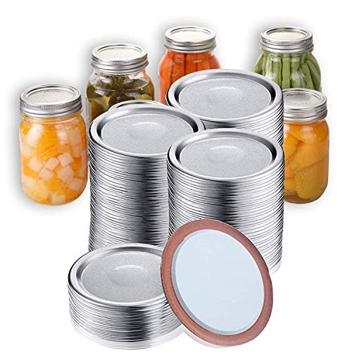 Lid for Mason Jar with Silicone Seals Rings 12 Pieces Regular Mouth Canning Lids Not Include Bands 70mm Split-Type Lids Reusable Leak Proof Storage Caps Rustproof Tinplate Metal Lids