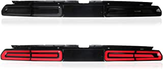 MICROPOWER Sequential LED Tail Lights for 2008 2009 2010 2011 2012 2013 2014 Dodge Challenger with Full LED DRL Bars and Tun Signals (smoked)