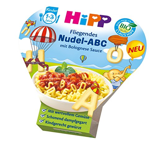 HiPP Fliegendes Nudel-ABC in Bolognese-Sauce, 6er Pack (6 x 250 g)