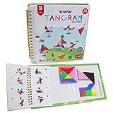 FUQUN 【2 Juegos de Tangram Rompecabezas de Tangram de Viaje Magnético Juegos de Libros IQ Juguetes Educativos para Niños Adultos (360 Patrones)