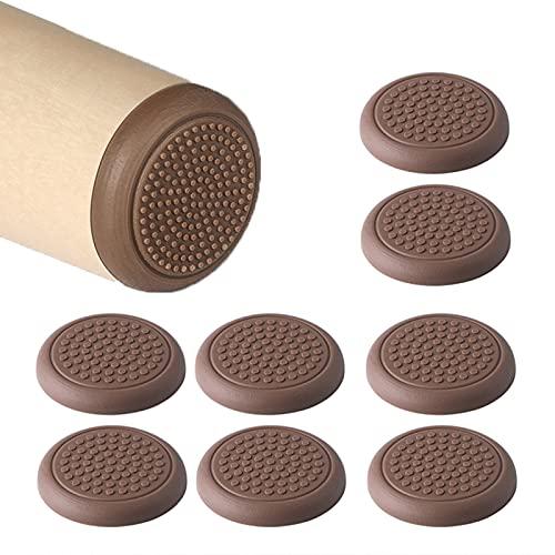 LEZED Möbelskydd för stolar och fåtöljer möbler silikon rörliga skjutreglage dynor gummi möbler glidflygplan för trägolvytor för snabbt och enkelt rörligt tunga möbler 8 st (30 mm)